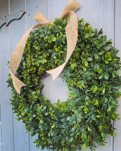 Boxwood Floral Wreath