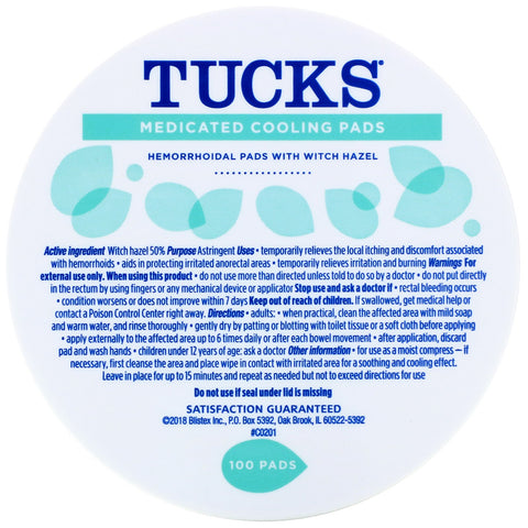 Tucks Medicated Cooling Pads (100 pads)
