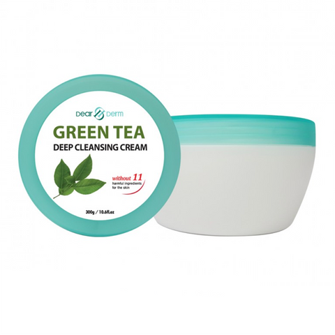 DEARDERM GREEN TEA DEEP CLEANSING CREAM - 300G / 10.6 FL. OZ