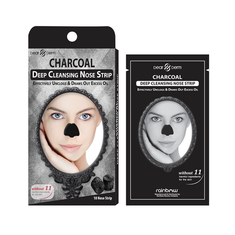 DEARDERM CHARCOAL DEEP CLEANSING NOSE PORE STRIP 10 SHEETS