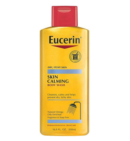 Eucerin Skin Calming Body Wash, For Dry Itchy Skin, Fragrance Free 8.4 oz (250ml)