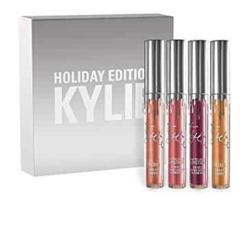 Kylie Cosmetics Limited Edition Holiday Collection ~ Full-Size 4 Piece Matte Liquid Lipsticks & Gloss Kit