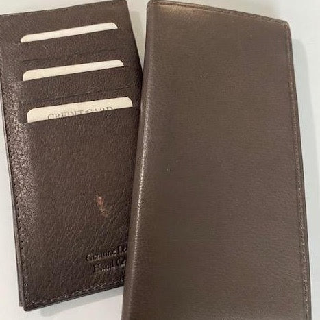 Leather Checkbook Style Wallet 1043