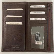 Load image into Gallery viewer, Leather Checkbook Style Wallet 1043
