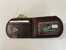 Load image into Gallery viewer, Paul & Taylor Leather Front Pocket Wallet 2166