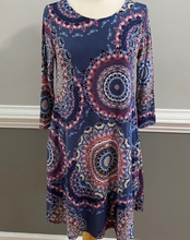 Load image into Gallery viewer, Cornflower & Circle Dress