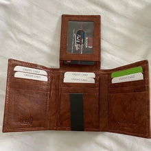 Load image into Gallery viewer, Leather RFID TRIfold 51252