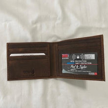Load image into Gallery viewer, Hunter Leather RFID Wallet 51301