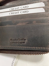 Load image into Gallery viewer, Hunter Leather Zipper Wallet 54365