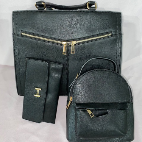 Zipper Handbag Combo