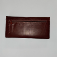 Load image into Gallery viewer, Leather Long wallet With Flap & Checkbook 116