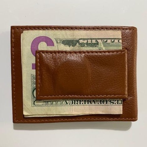 Leather Money Clip 917