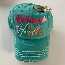 "Load image into Gallery viewer, ""Raising My Herd"" Distressed Cap"