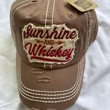 "Load image into Gallery viewer, ""Sunshine & Whiskey""  Distressed Cap"