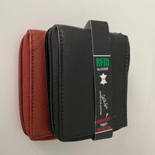 Load image into Gallery viewer, Leather RFID Zipper Wallet 51253