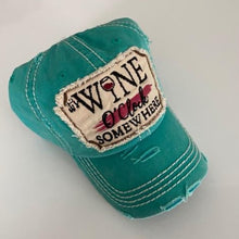 "Load image into Gallery viewer, ""Wine O'clock Somewhere"" Vintage Cotton Cap"