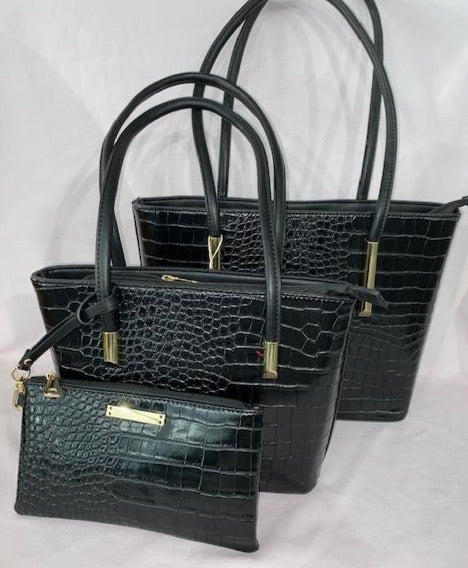 Faux Alligator handbag Set