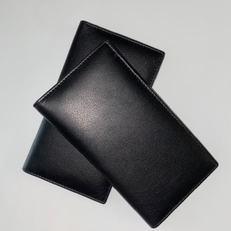 Leather Checkbook Cover Wallet 3234