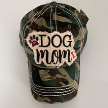 Load image into Gallery viewer, Dog Mom Distressed Cotton Cap