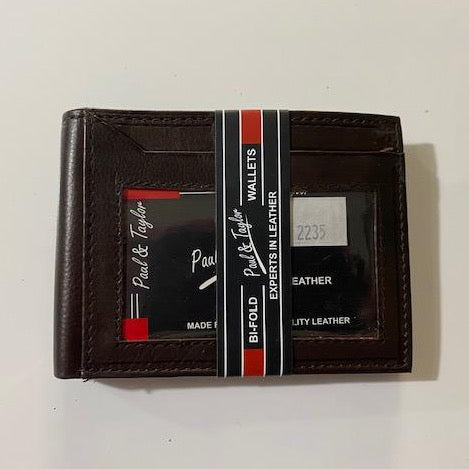 Leather Paul & Taylor Wallet 2235