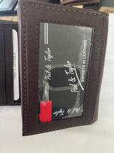 Load image into Gallery viewer, Leather Paul & Taylor Wallet 2274