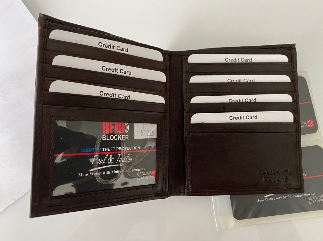 Leather RFID Oversize Wallet 51225