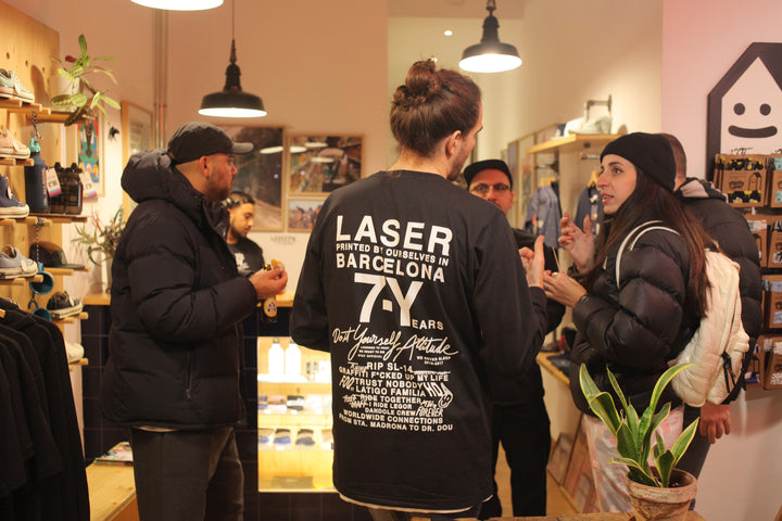 happy new 2018 from laser barcelona