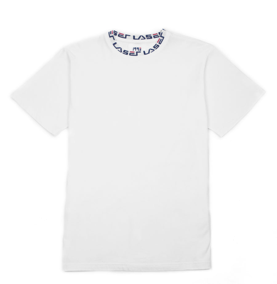 1993 JAQUARD COLLAR TEE WHITE