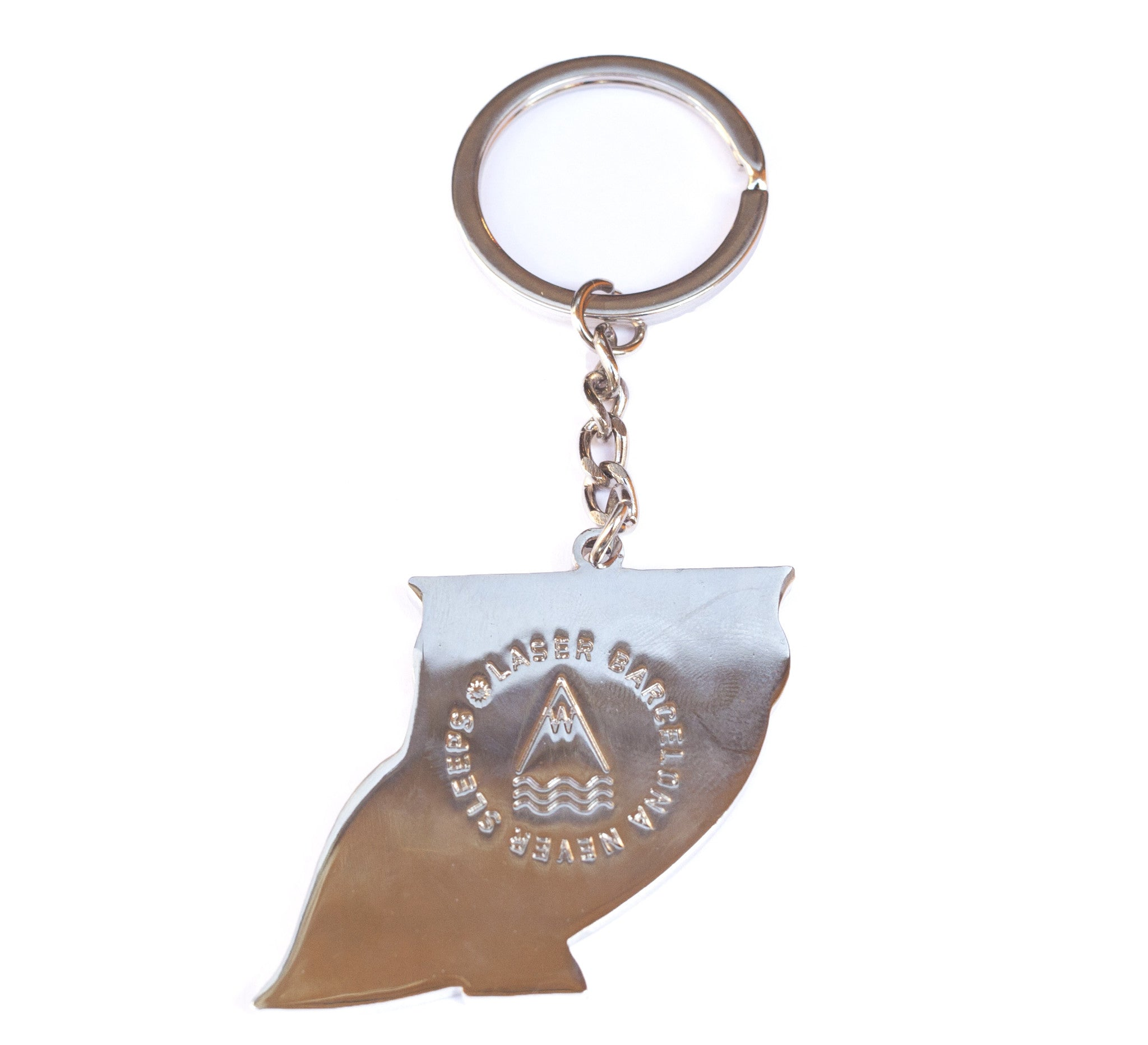 WE NEVER SLEEP KEYCHAIN