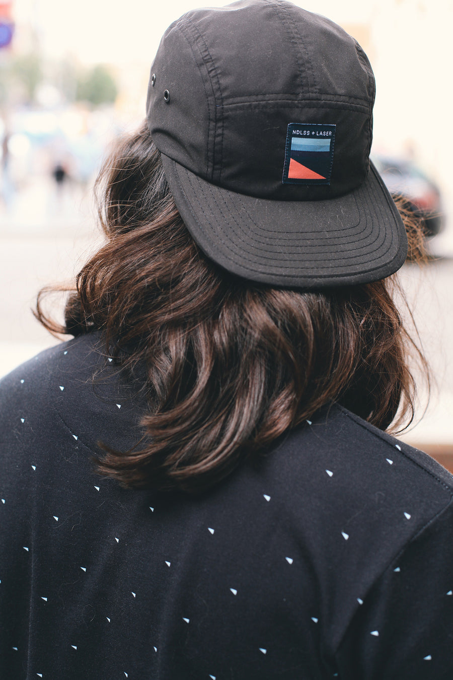 NDLSS+LASER 5 PANEL HAT BLACK