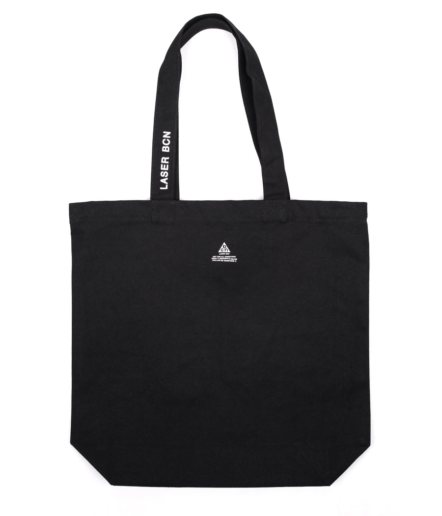 MONTJUICH CO/V2 DUCK CANVAS TOTE BAG BLACK