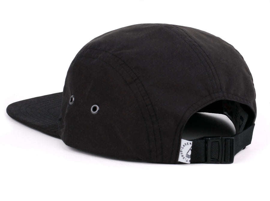 BORNE BLACK PACKABLE 5 PANEL HAT