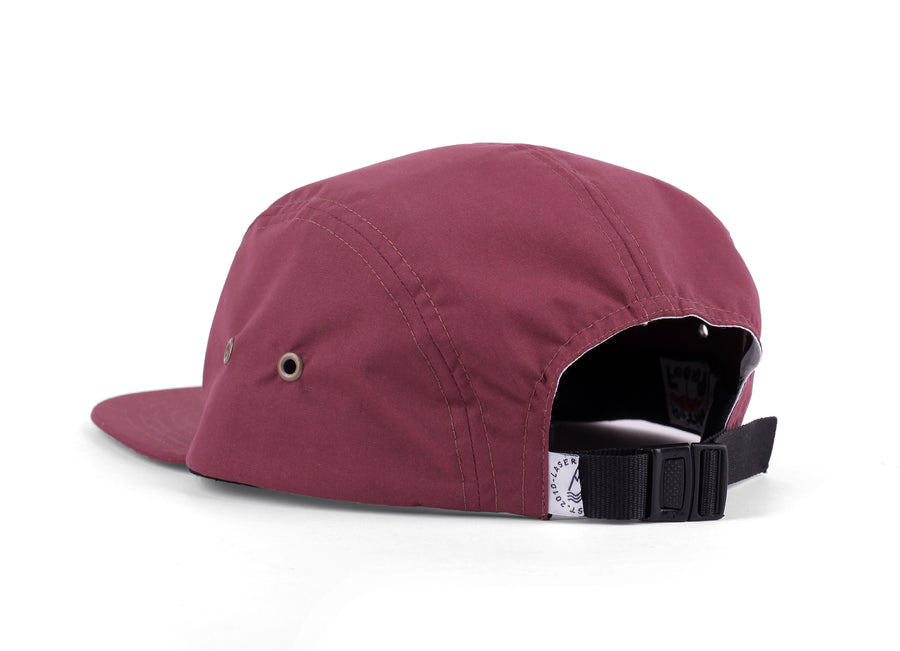 BORNE BURGUNDY PACKABLE 5 PANEL HAT
