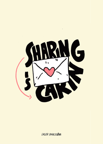 SHARING IS CARING PRINT