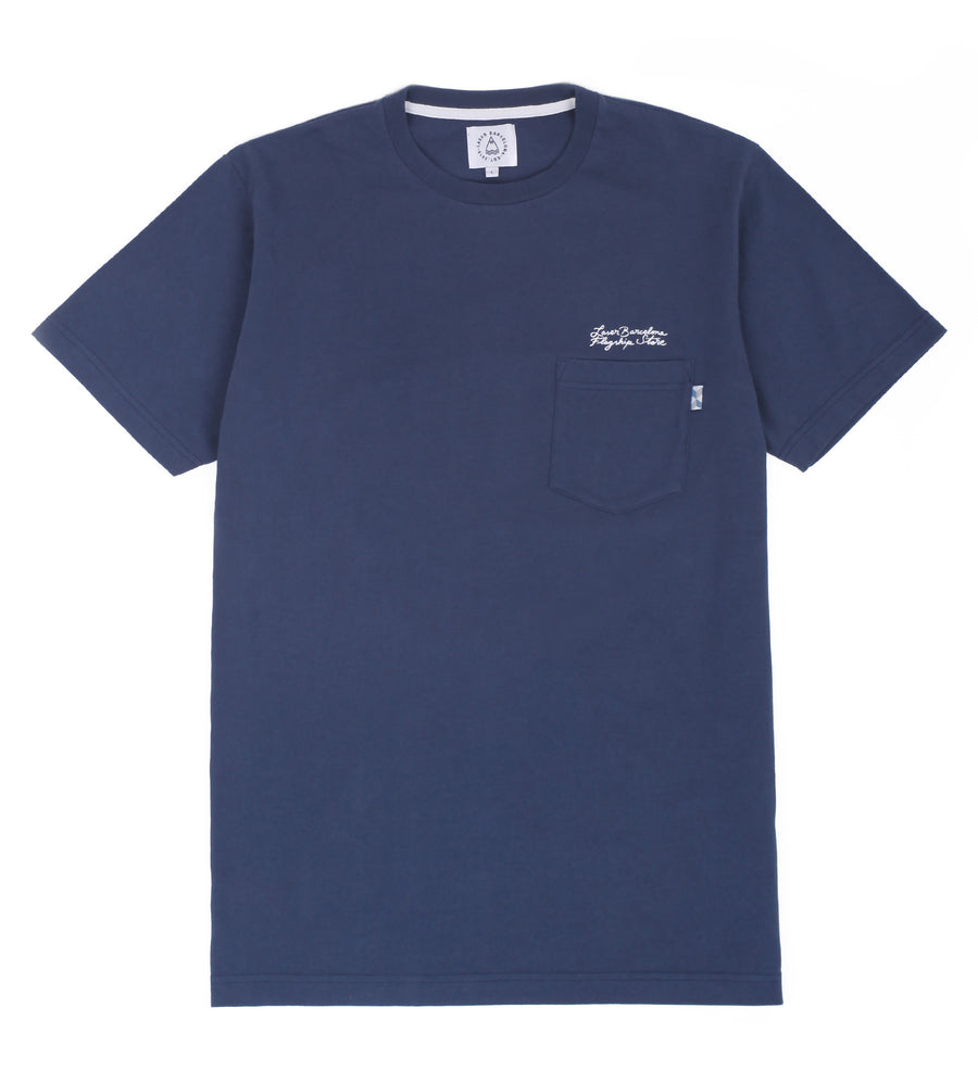FLAGSHIP 4 YEARS ANNIVERSARY POCKET TEE NAVY