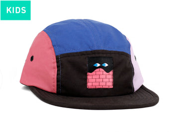 LASER X HEDOF KIDS 5 PANEL HAT CAT MULTICOLOR