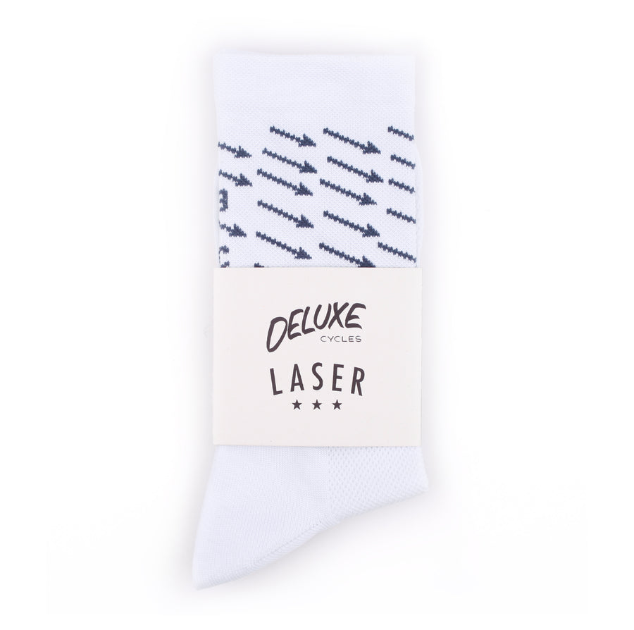 NYC TO BCN PERFORMANCE SOCKS WHITE