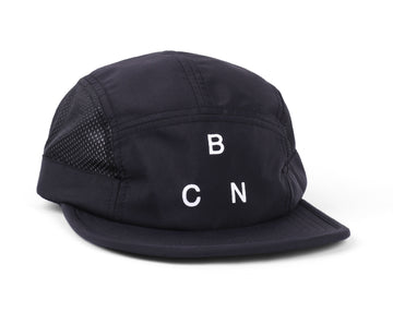 MONTJUICH CO/V2 TECH 5 PANEL HAT BLACK