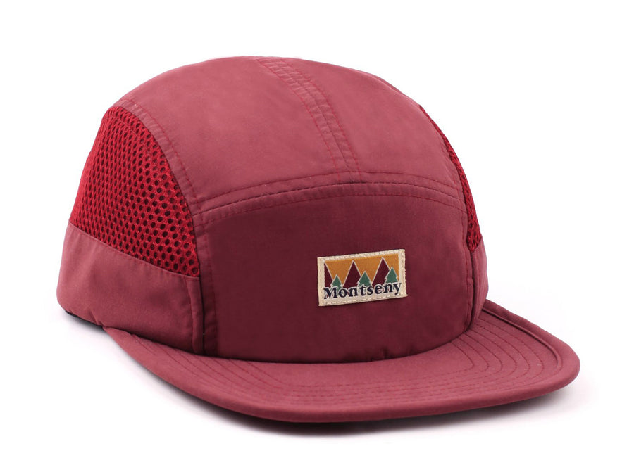 MONTSENY 5 PANEL TECH HAT BURGUNDY