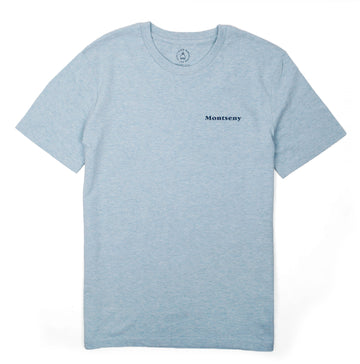MONTSENY TEE HEATHER BLUE