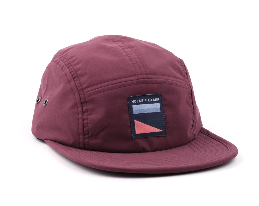 NDLSS+LASER 5 PANEL HAT BURGUNDY