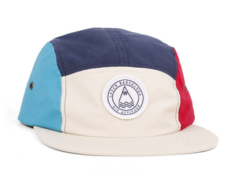 BARCELONETA 5 PANEL HAT MULTI CREAM