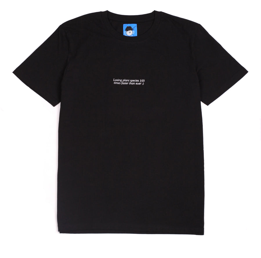 LOSING PLANTS SPECIES TEE BLACK