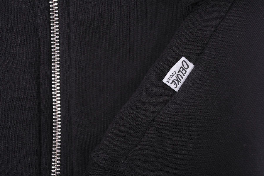NYC TO BCN HOODIE ZIPPER BLACK