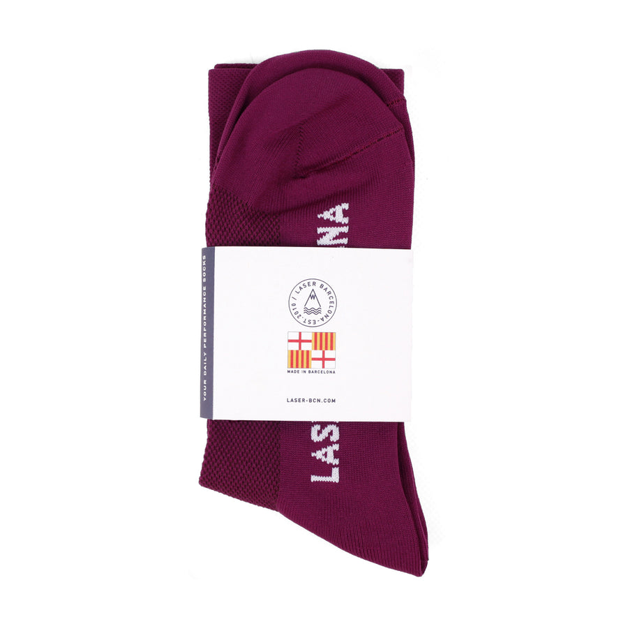OG DAILY PERFORMANCE SOCKS WINE