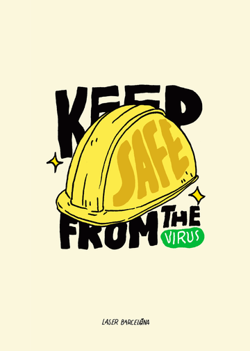 KEEP SAFE FROM THE VIRUS PRINT