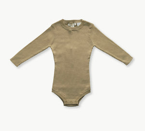Ribbed Bodysuit - Olive