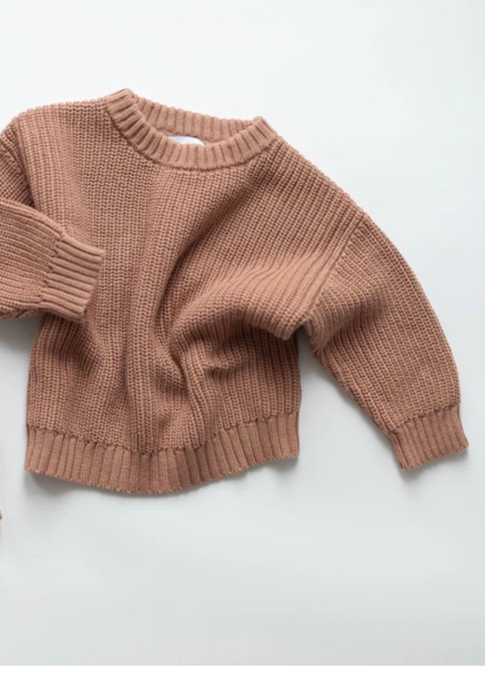 Jumper Chunky Knit Pullover | Clay