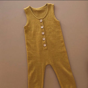 Button Up One-Piece - Harvest Gold