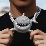 XXL Iced Out Shark Pendant